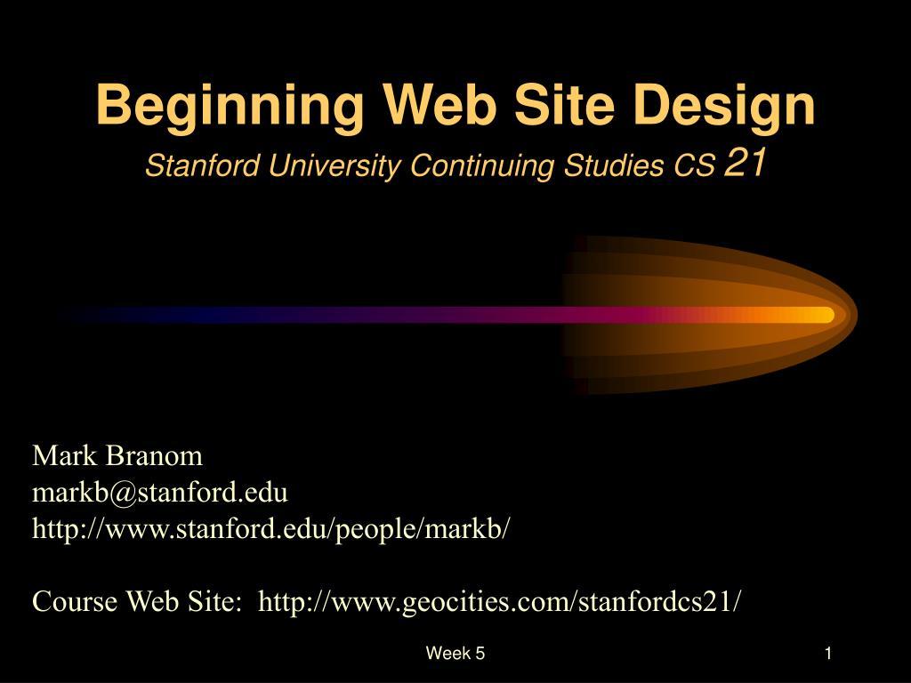 Beginning Web Site Design