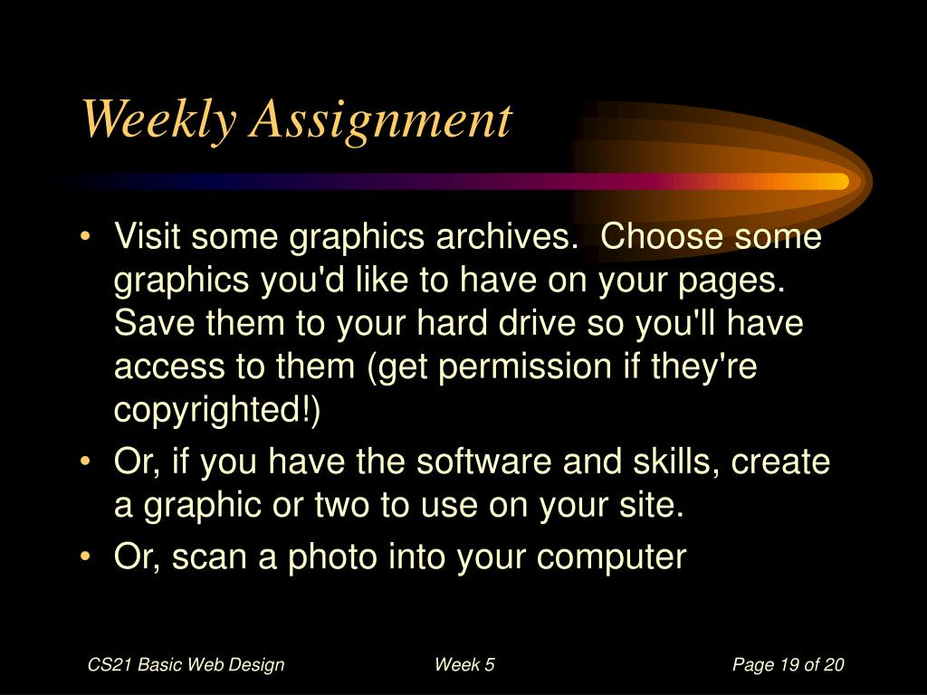 Weekly Assignment