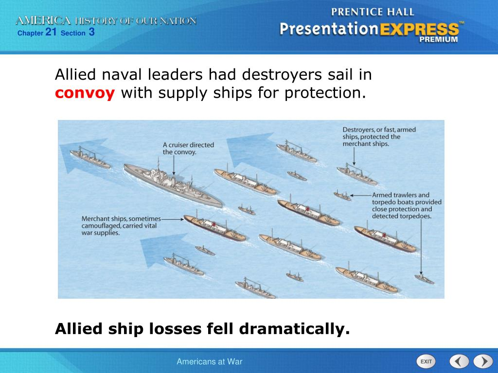 Allied naval leaders had destroyers sail in