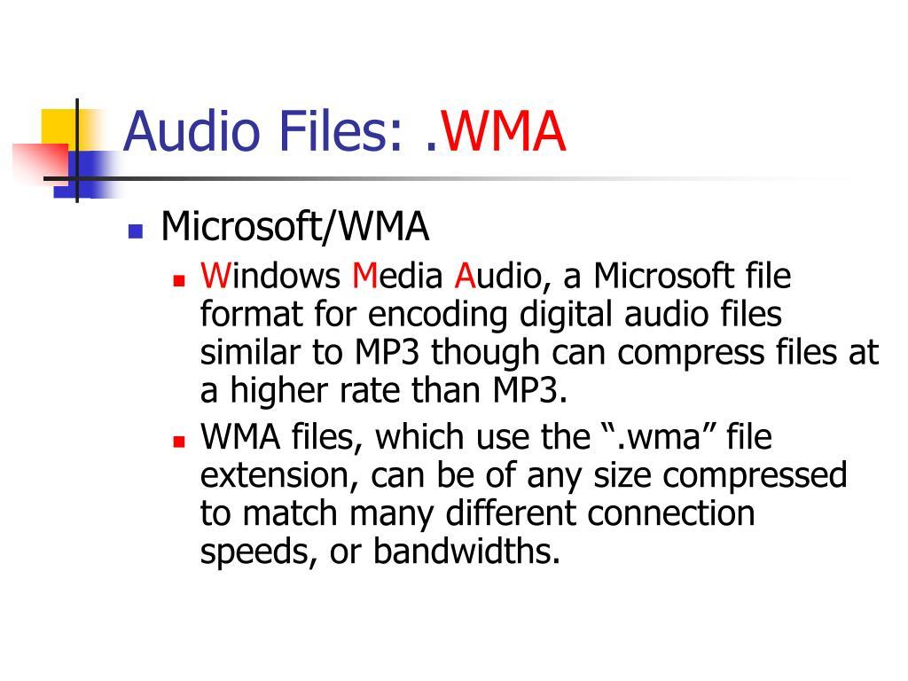 Audio Files: .