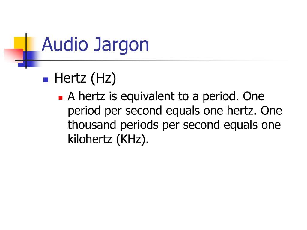 Audio Jargon