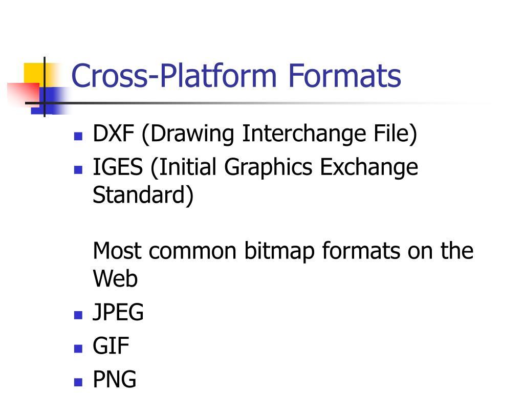 Cross-Platform Formats