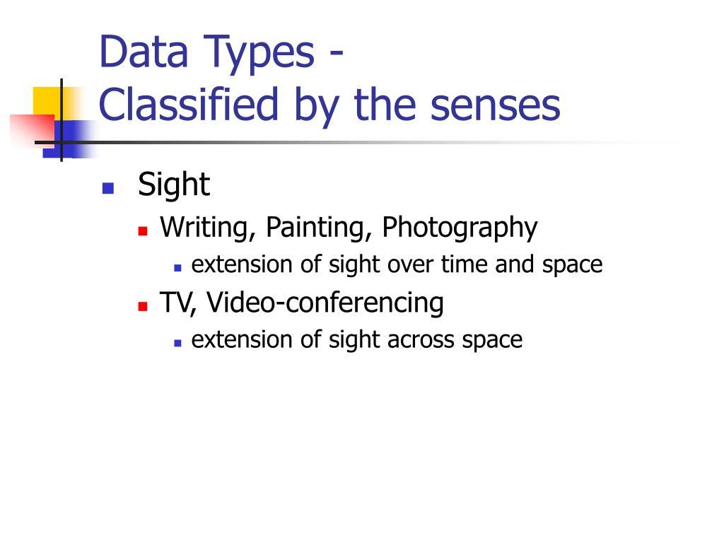 Data Types -
