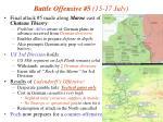 battle offensive 5 15 17 july