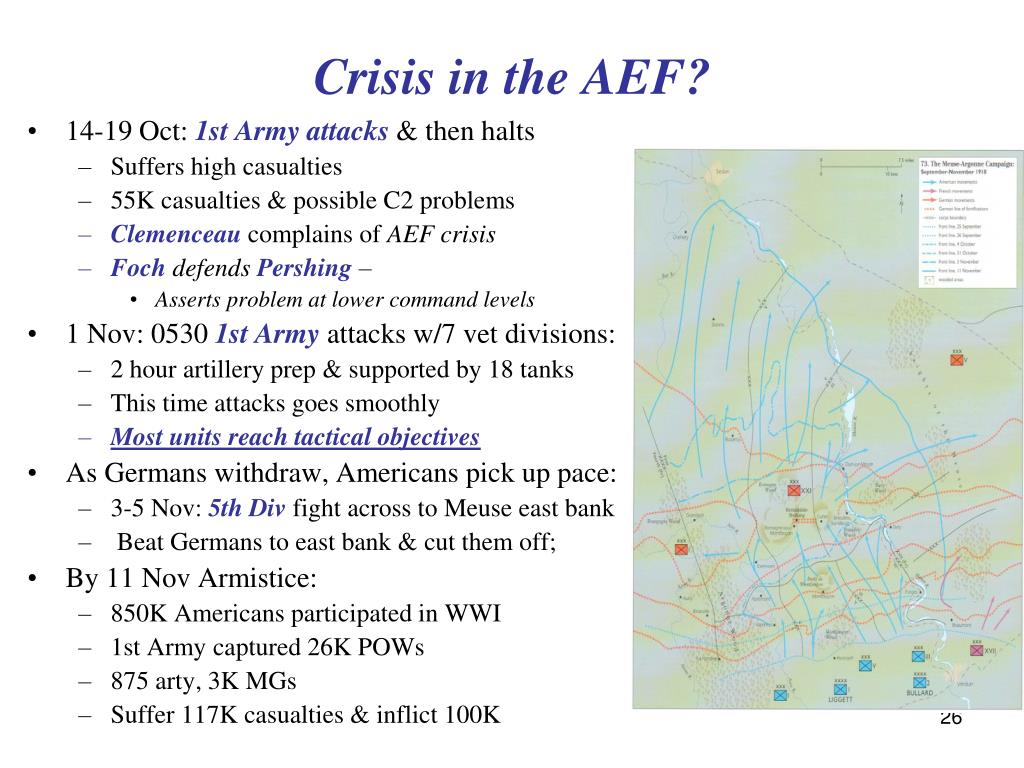 Crisis in the AEF?