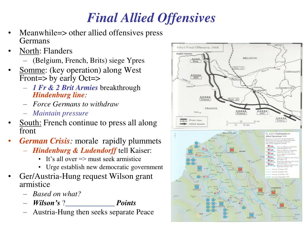 Final Allied Offensives
