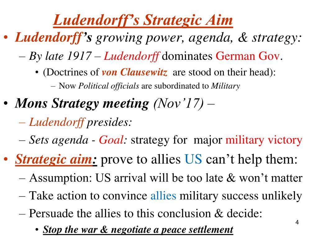 Ludendorff's Strategic Aim