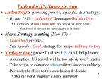 ludendorff s strategic aim