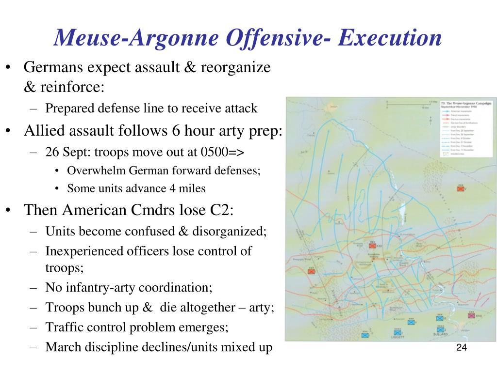 Meuse-Argonne Offensive- Execution