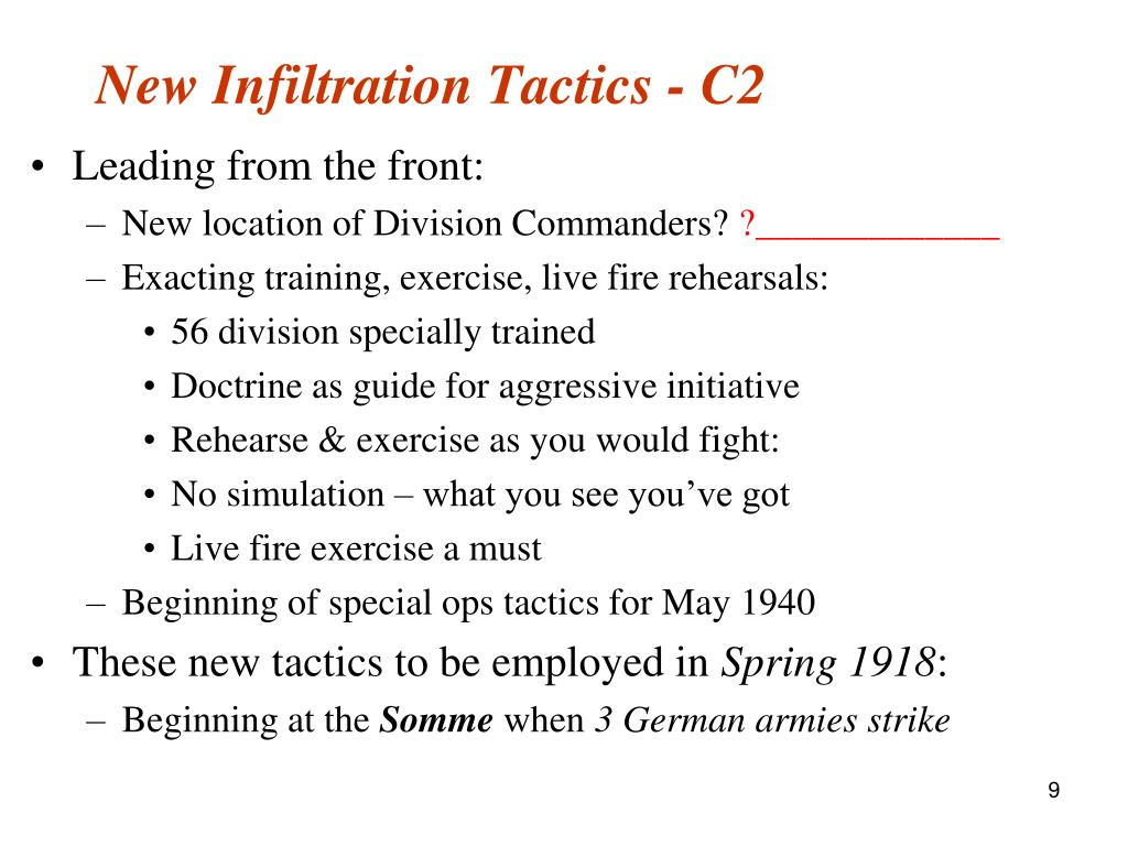 New Infiltration Tactics - C2