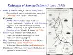 reduction of somme salient august 1918