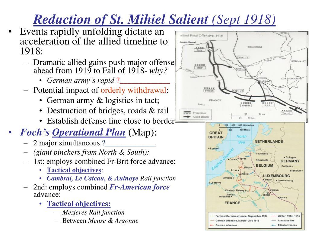 Reduction of St. Mihiel Salient