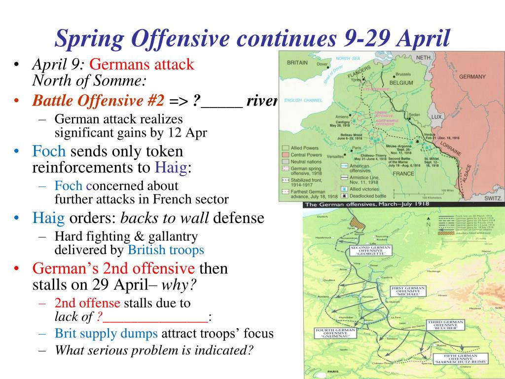 Spring Offensive continues 9-29 April