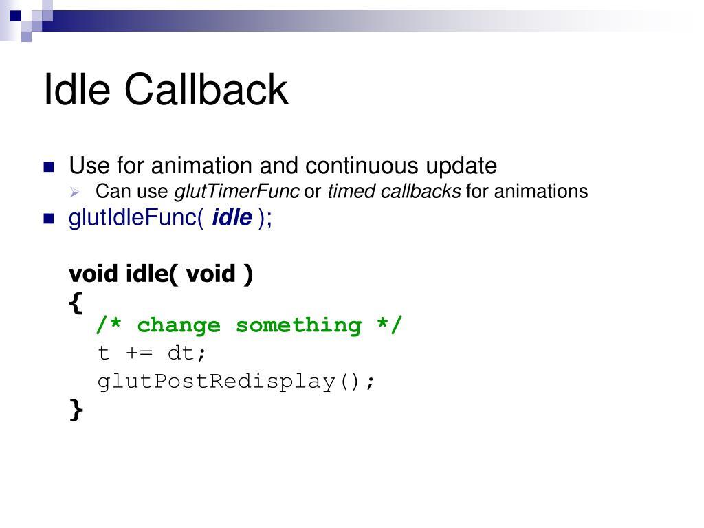Idle Callback