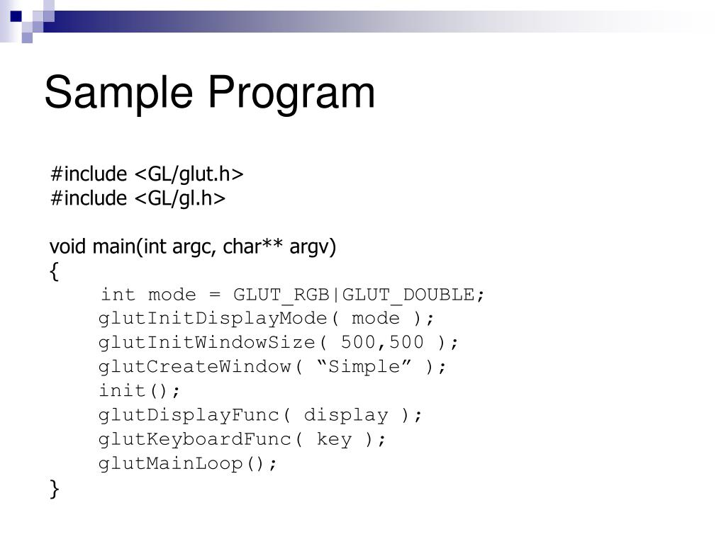Sample Program
