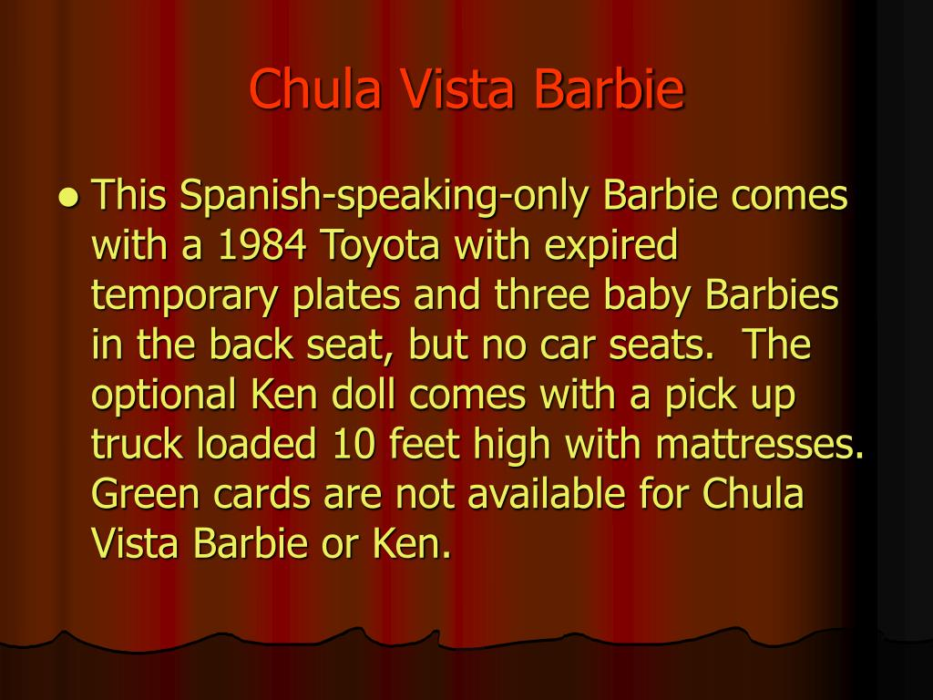 Chula Vista Barbie