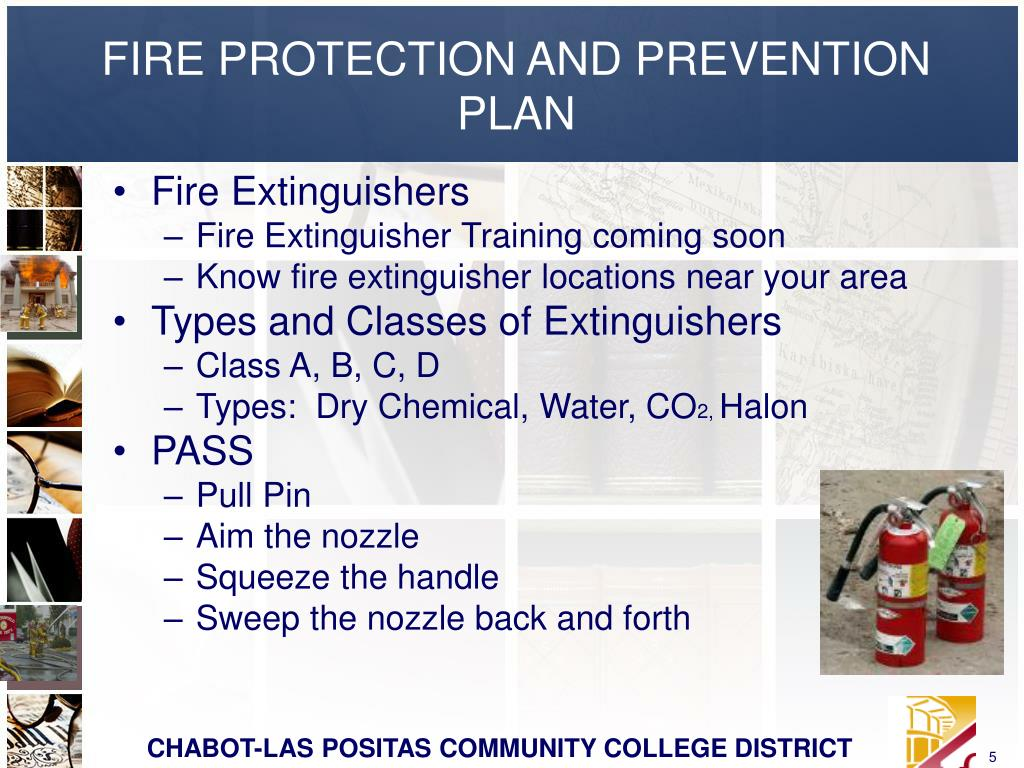FIRE PROTECTION AND PREVENTION PLAN
