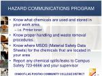 hazard communications program