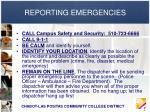 reporting emergencies