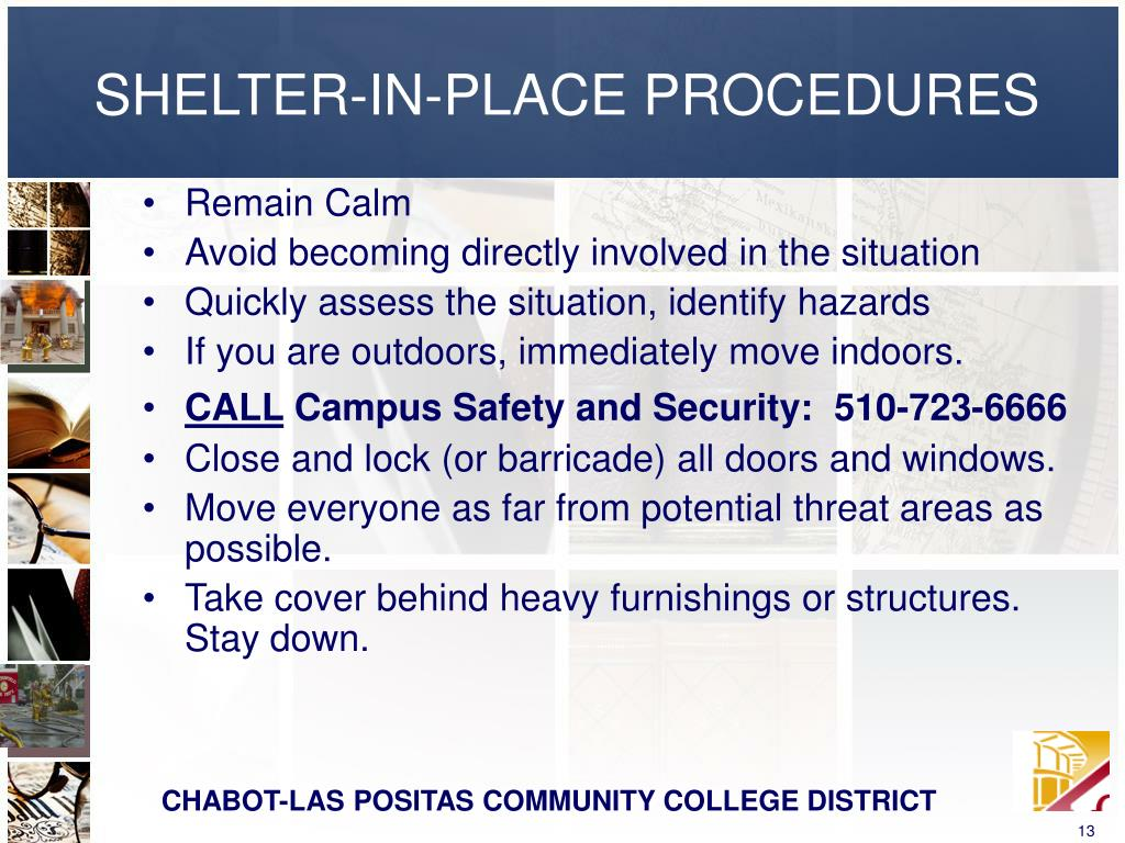 SHELTER-IN-PLACE PROCEDURES