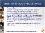 shelter in place procedures