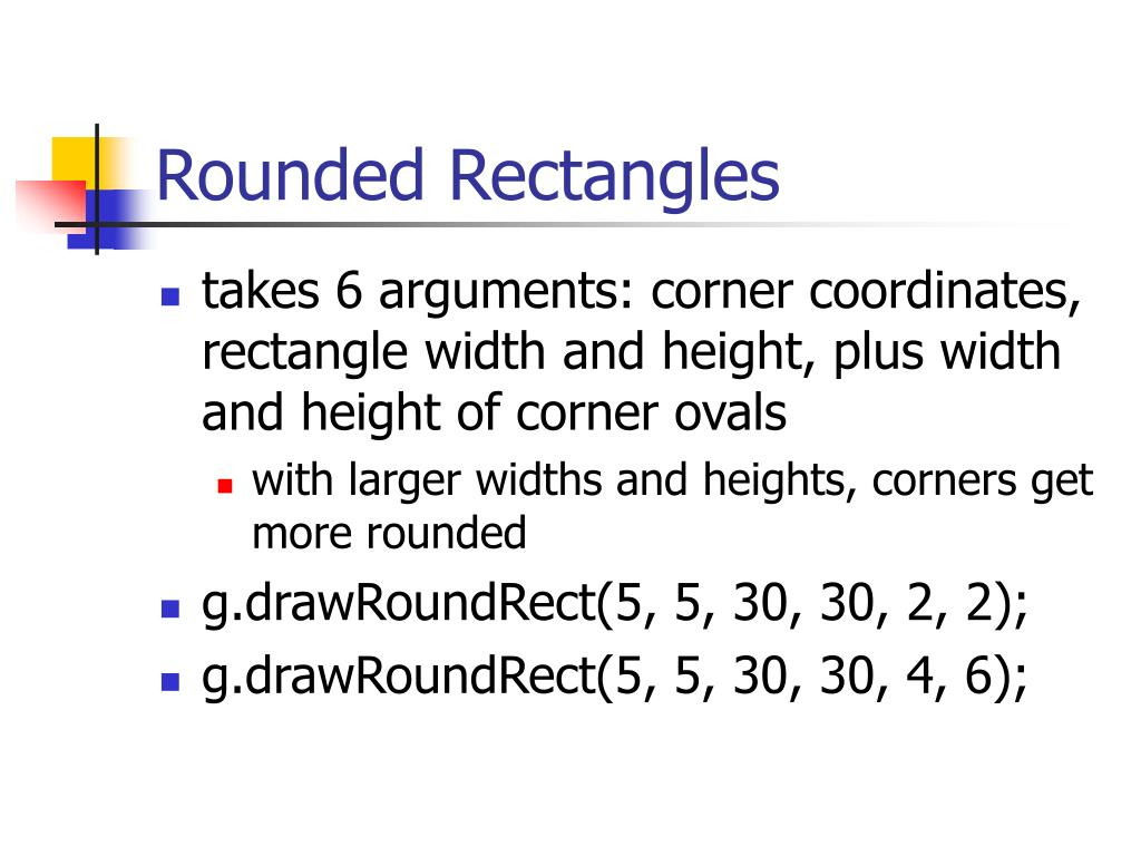Rounded Rectangles