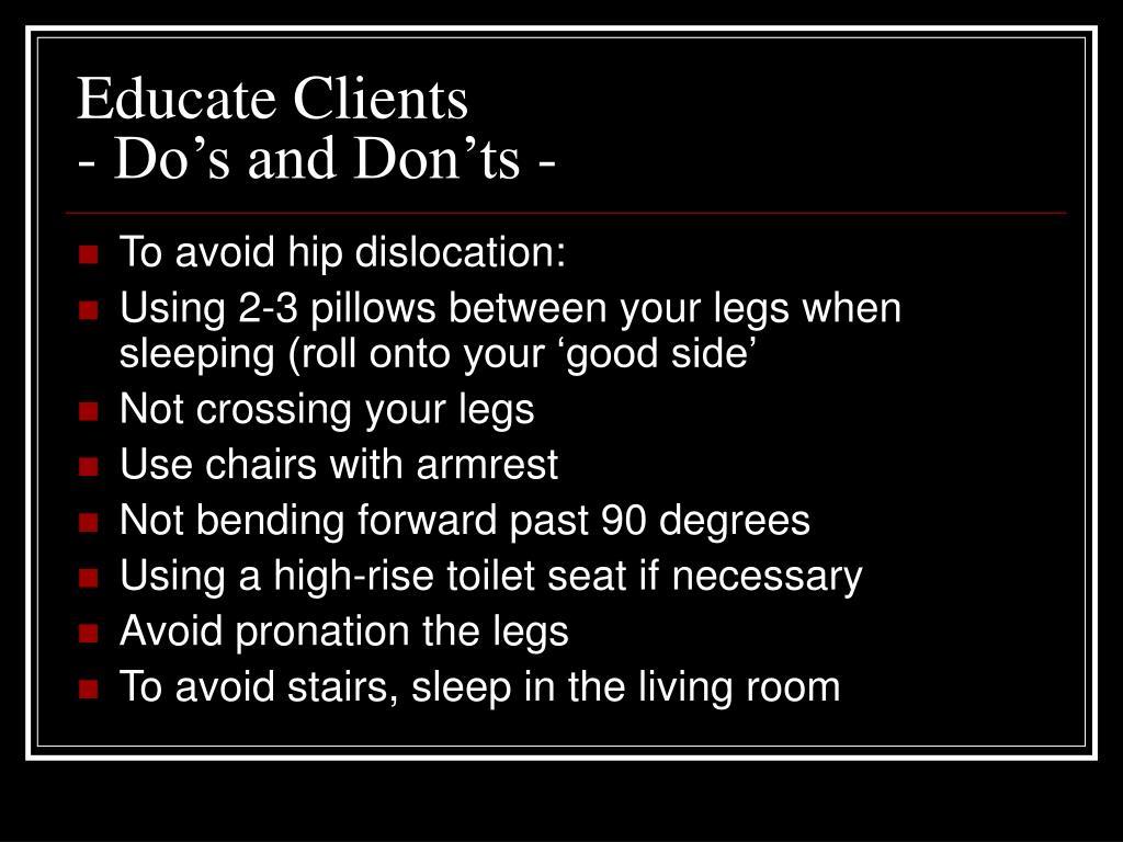 Educate Clients