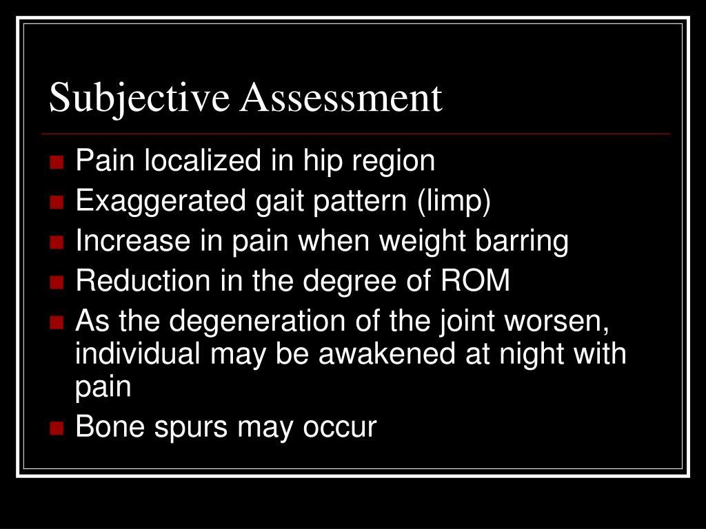 Subjective Assessment