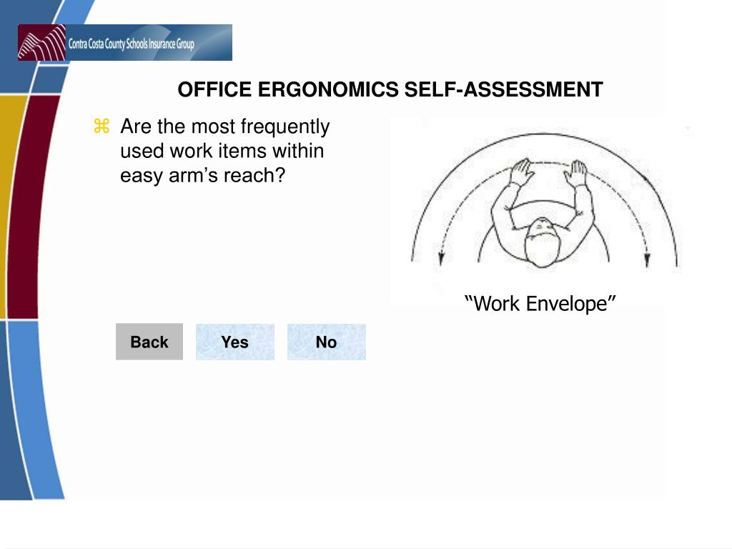 Are the most frequently used work items within easy arm's reach?