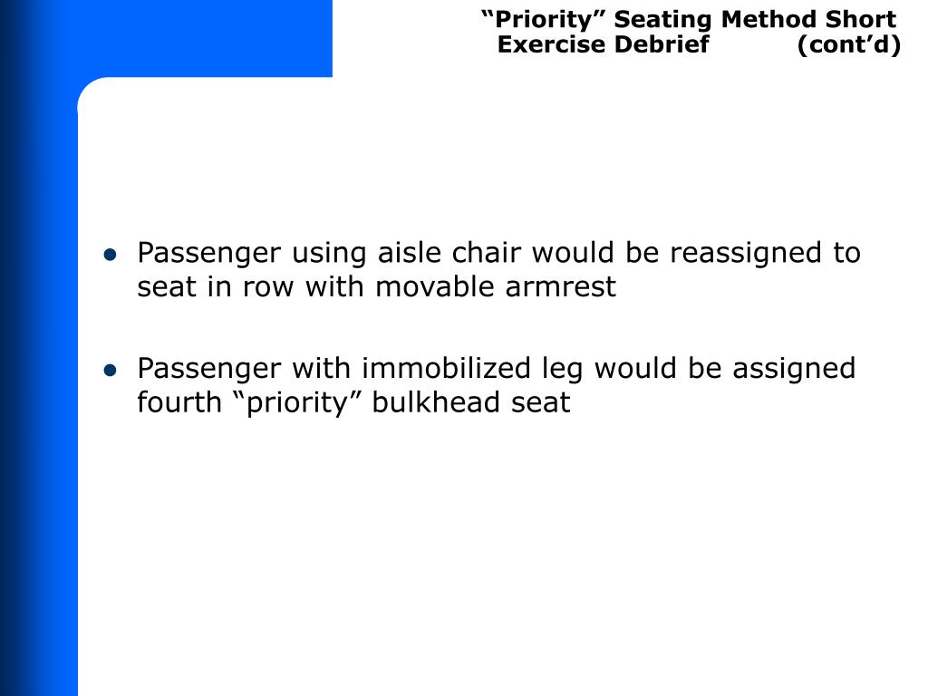 """Priority"" Seating Method Short"
