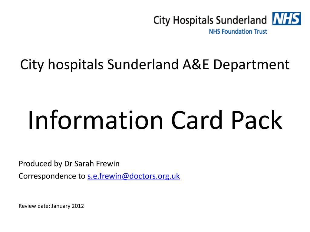 City hospitals Sunderland A&E Department