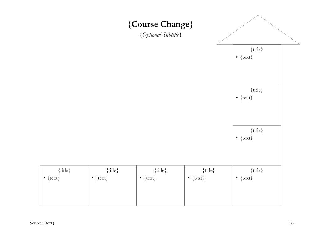 {Course Change}