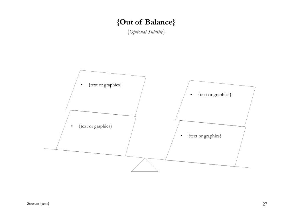 {Out of Balance}