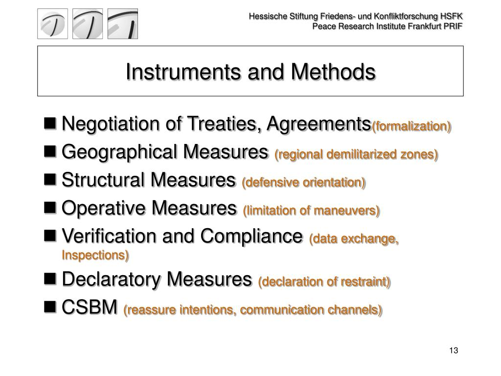 Instruments and Methods