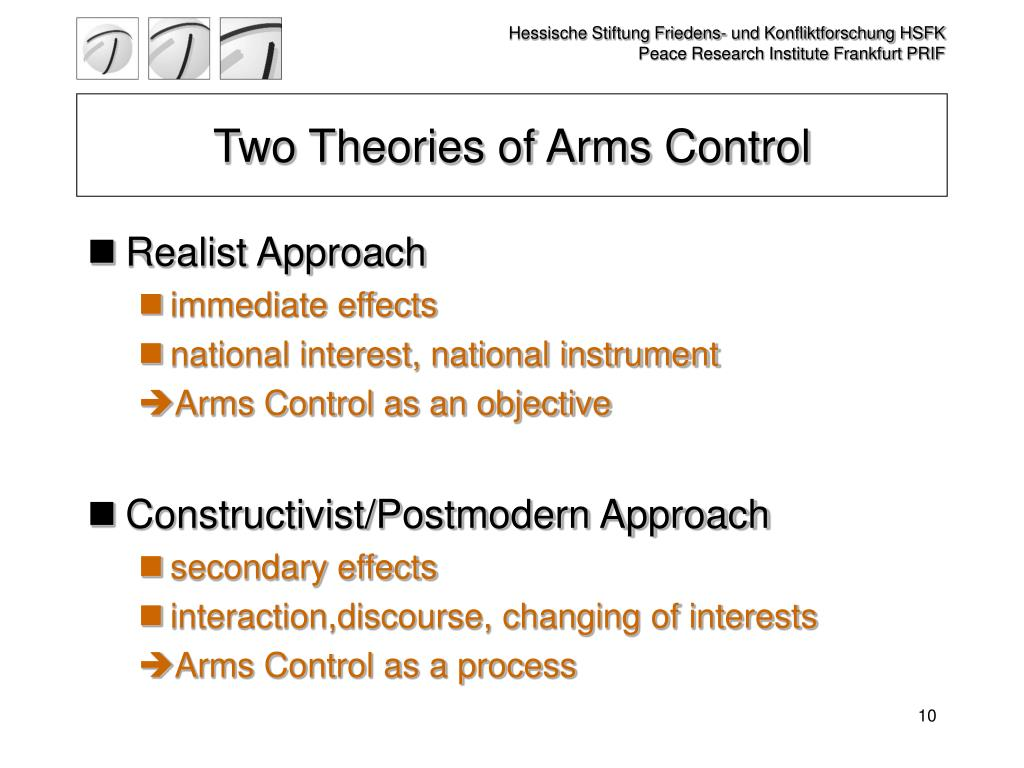 Two Theories of Arms Control