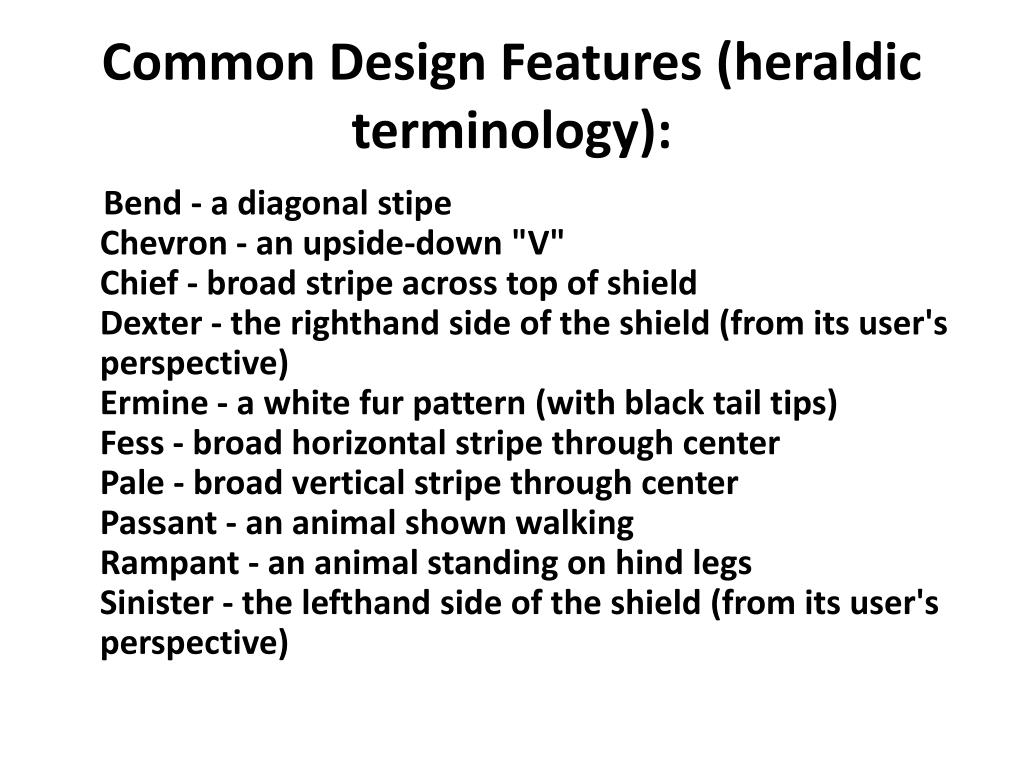 Common Design Features (heraldic terminology):