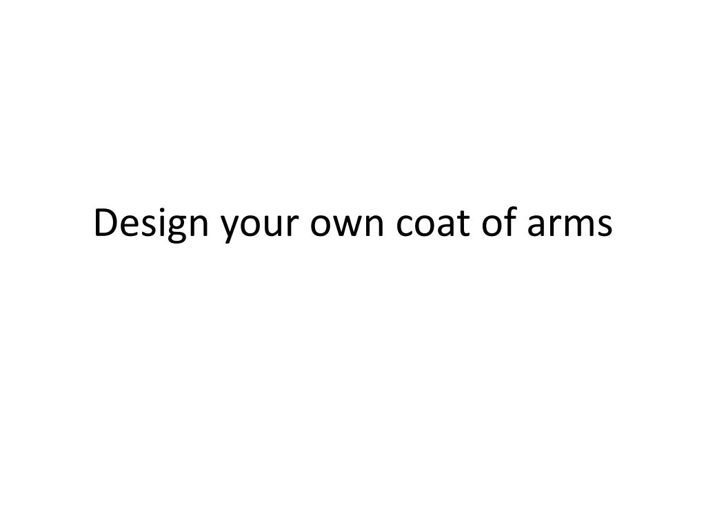 design your own coat of arms