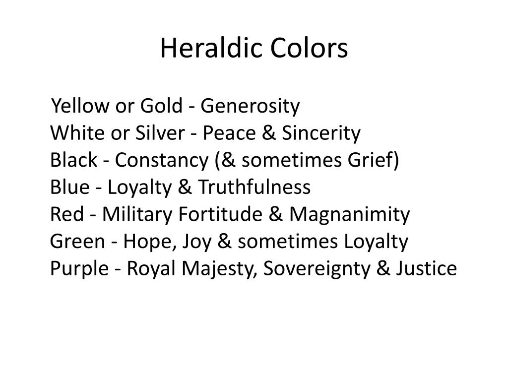 Heraldic Colors