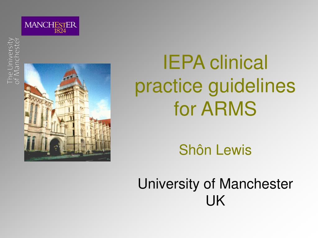 IEPA clinical practice guidelines for ARMS