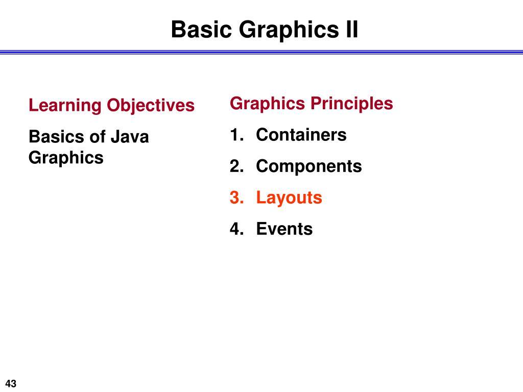 Basic Graphics II