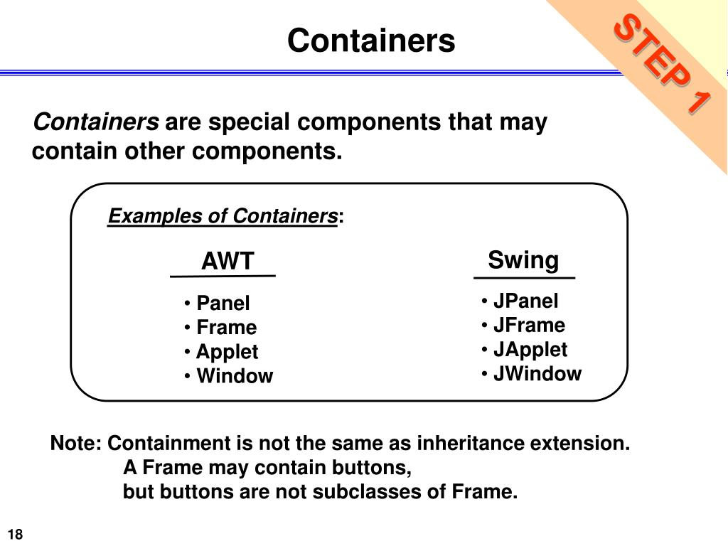 Examples of Containers