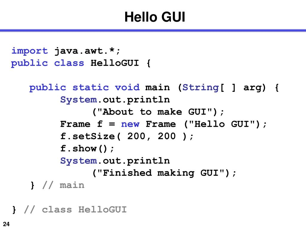 Hello GUI