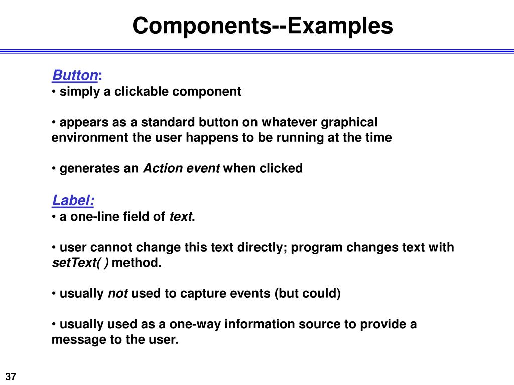 Components--Examples