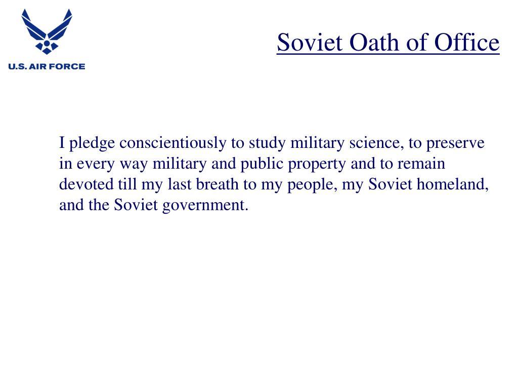 Soviet Oath of Office