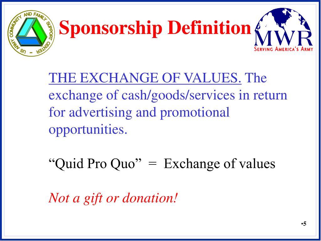 Sponsorship Definition