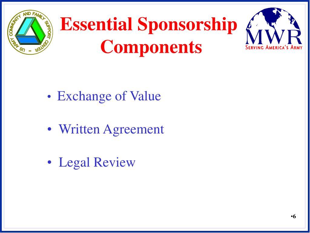 Essential Sponsorship