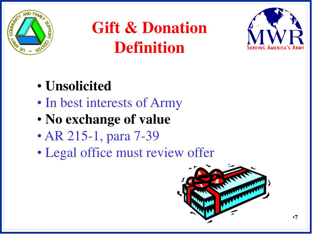 Gift & Donation Definition