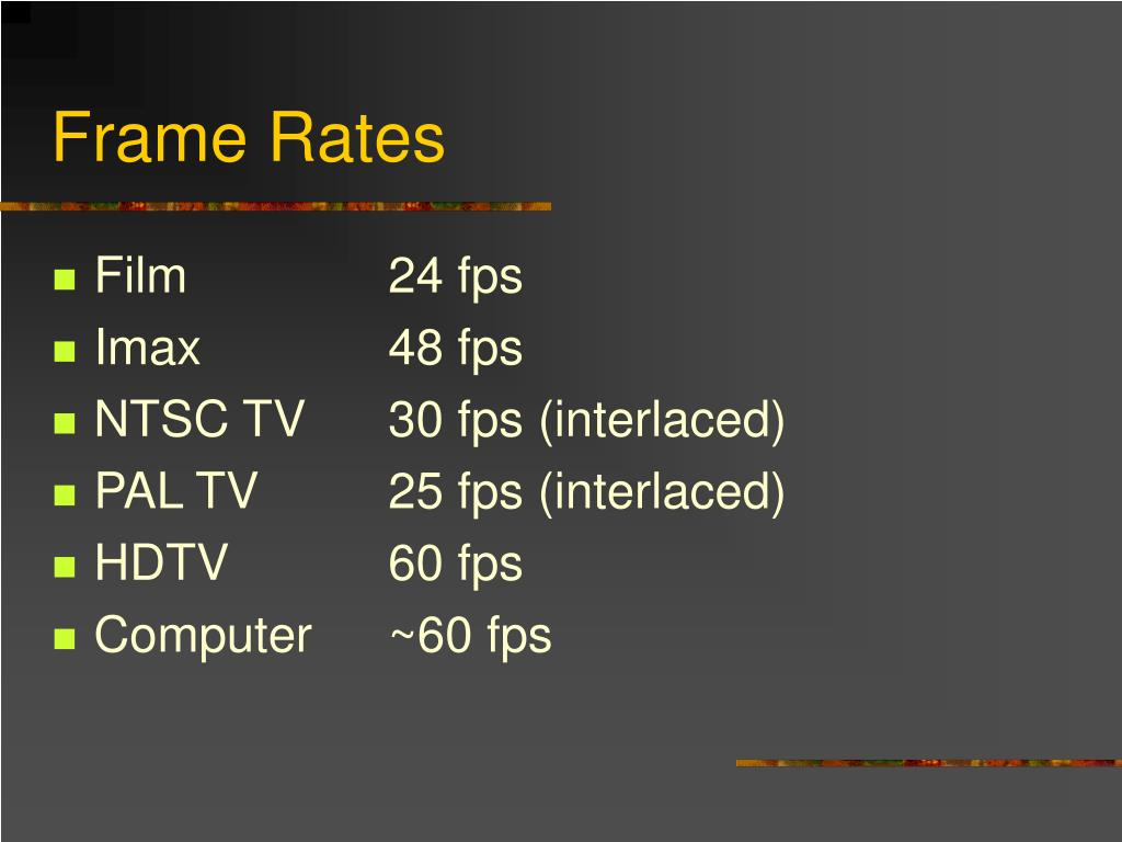 Frame Rates