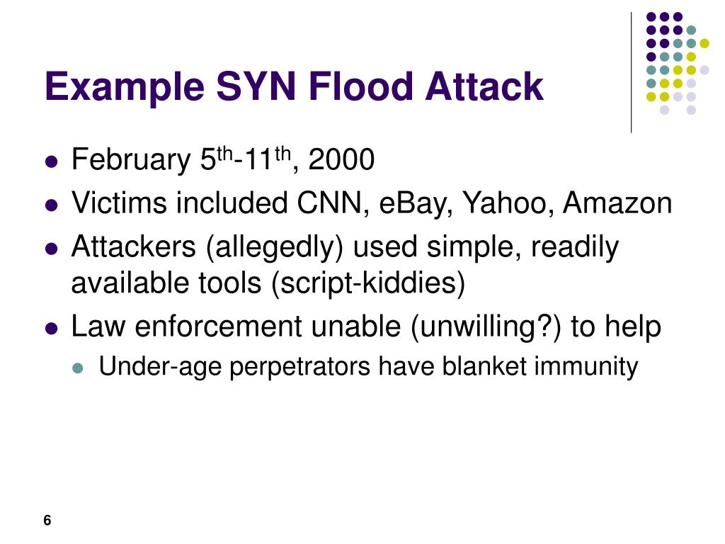 Example SYN Flood Attack