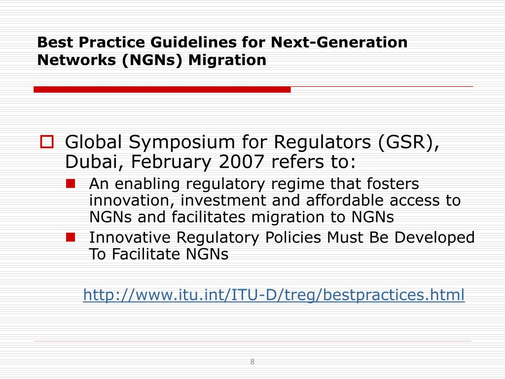 Best Practice Guidelines for Next-Generation Networks (NGNs) Migration